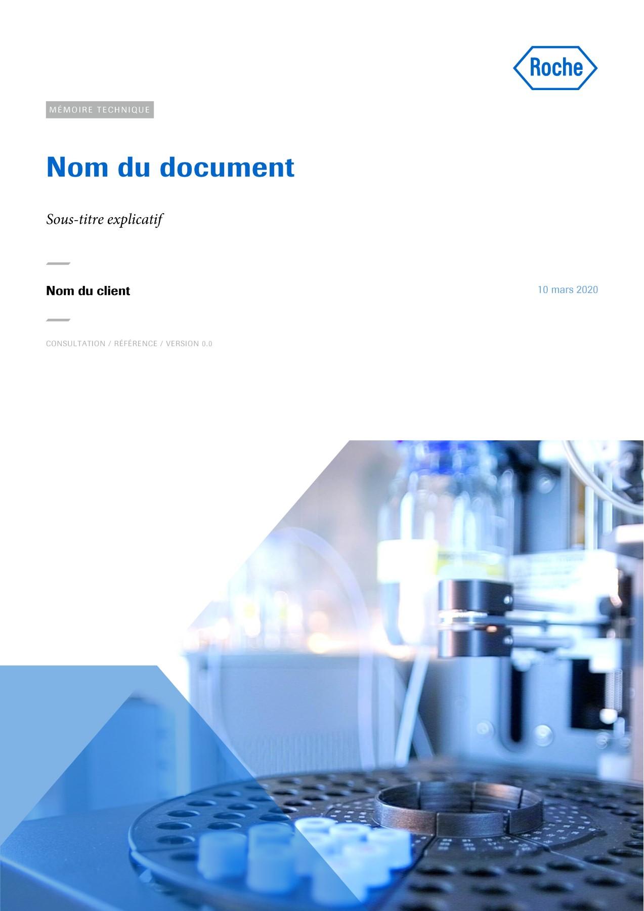 Modèle de présentation Word professionnelle pour laboratoire Roche 1