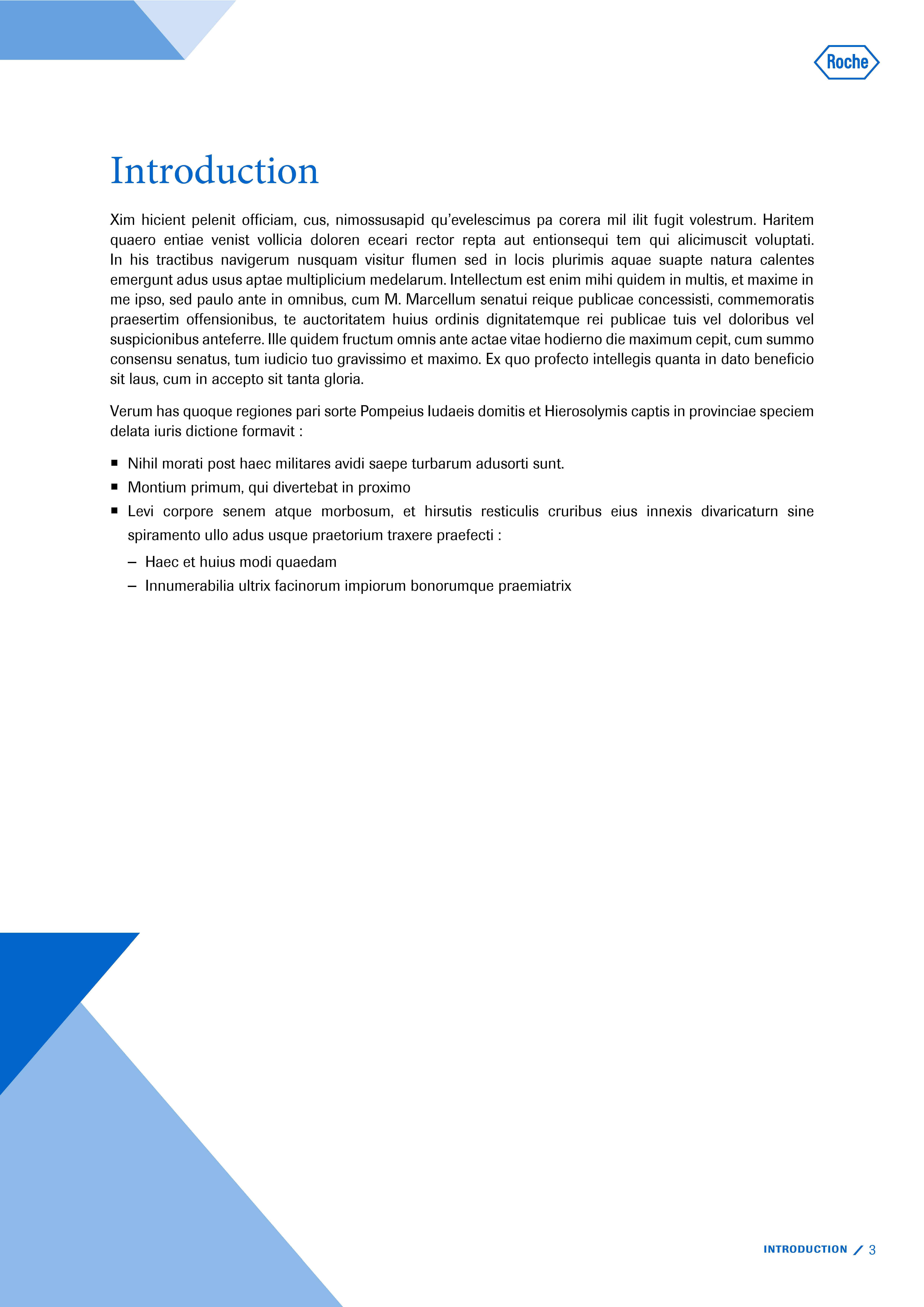 Modèle de présentation Word professionnelle pour laboratoire Roche 3