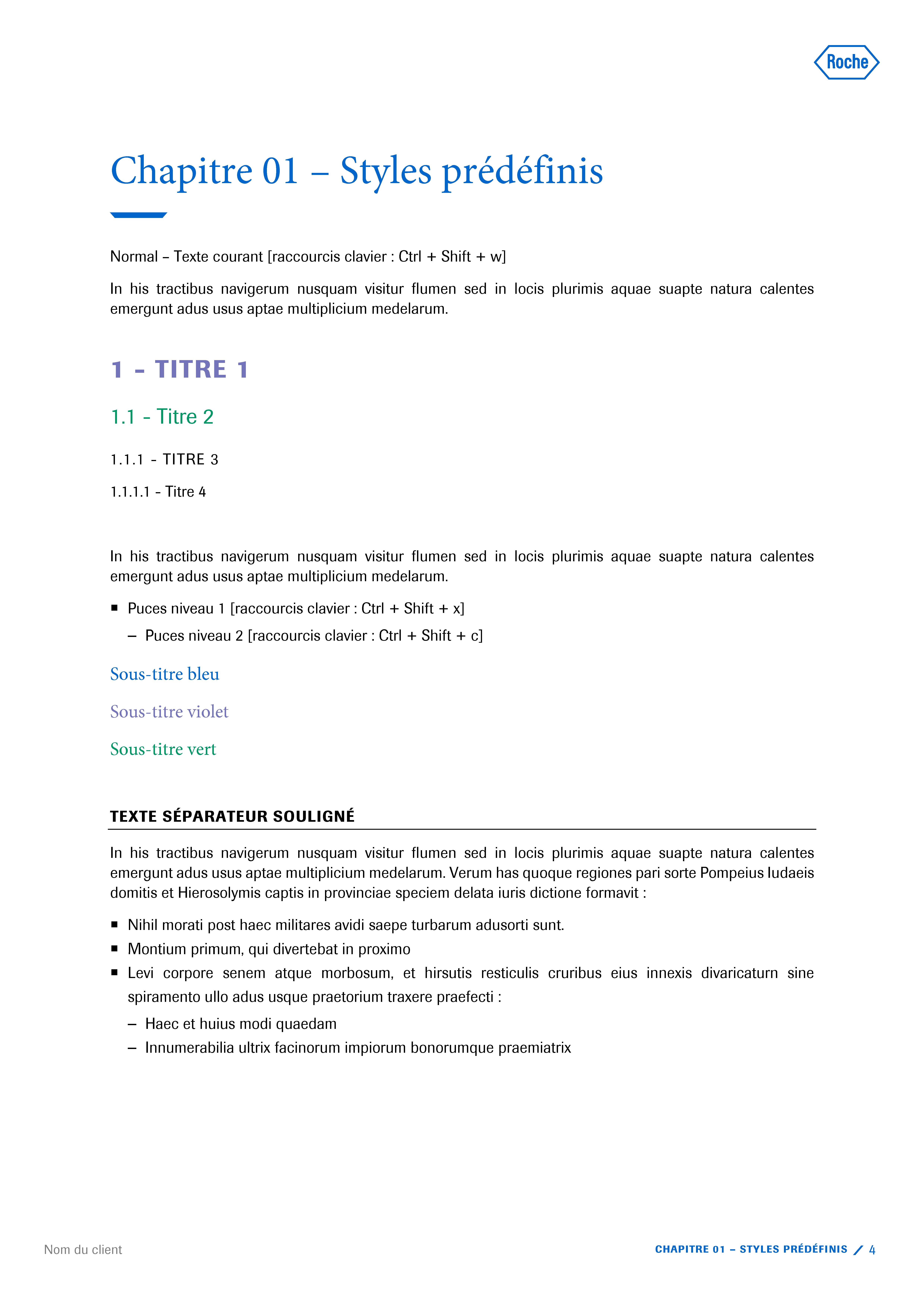 Modèle de présentation Word professionnelle pour laboratoire Roche 4