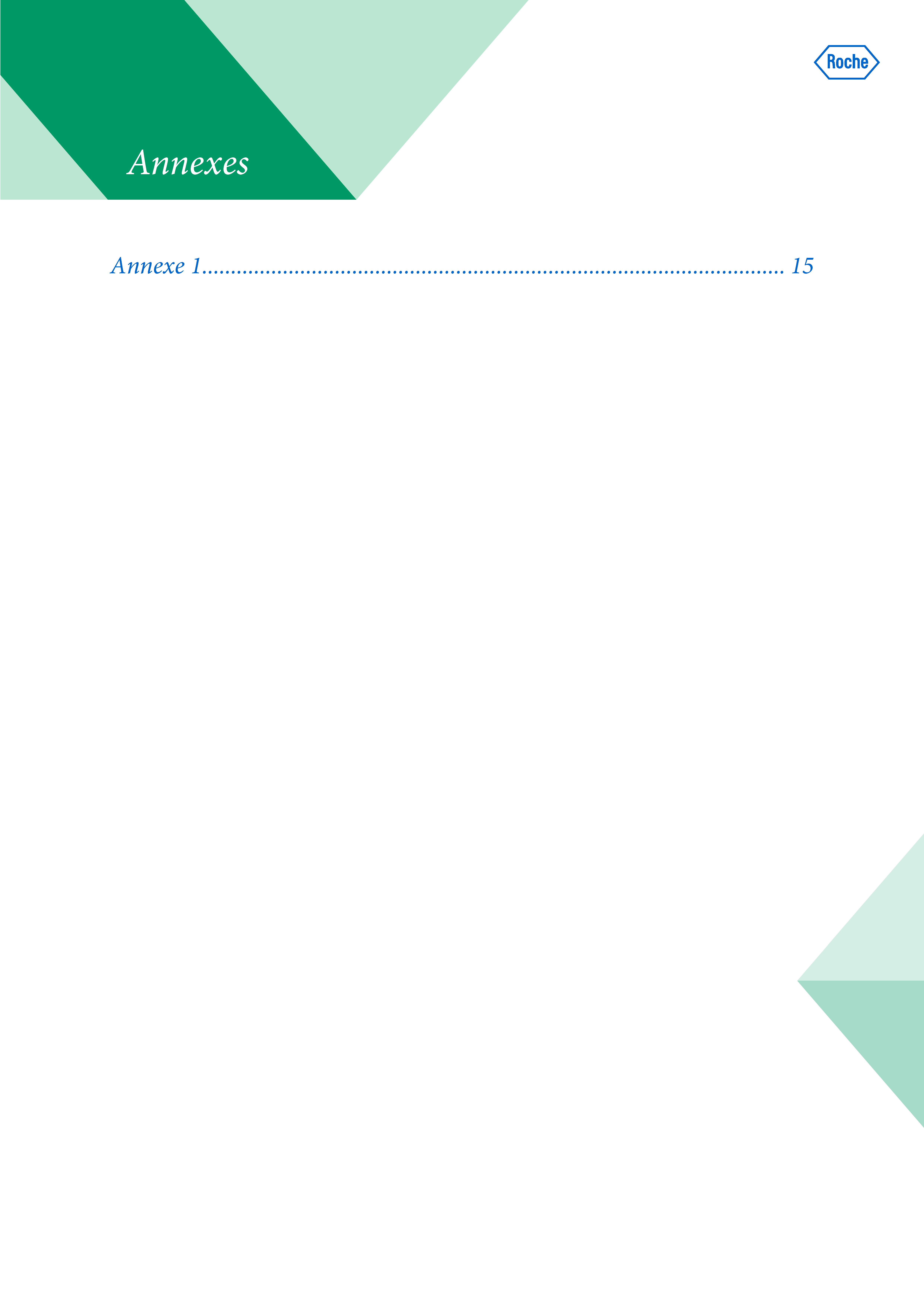 Modèle de présentation Word professionnelle pour laboratoire Roche 7