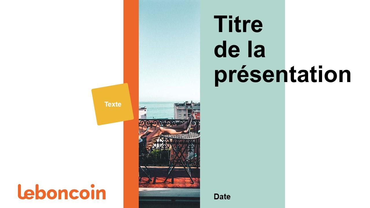 Modèle PowerPoint design et original -Leboncoin 1