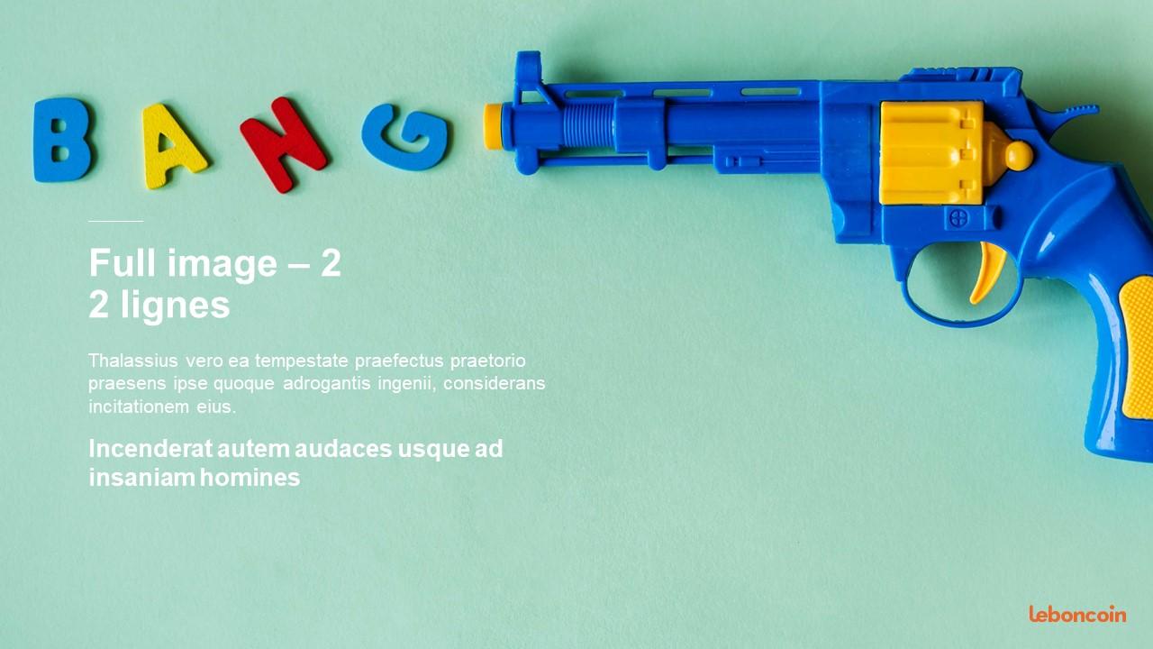 Modèle PowerPoint design et original -Leboncoin 12