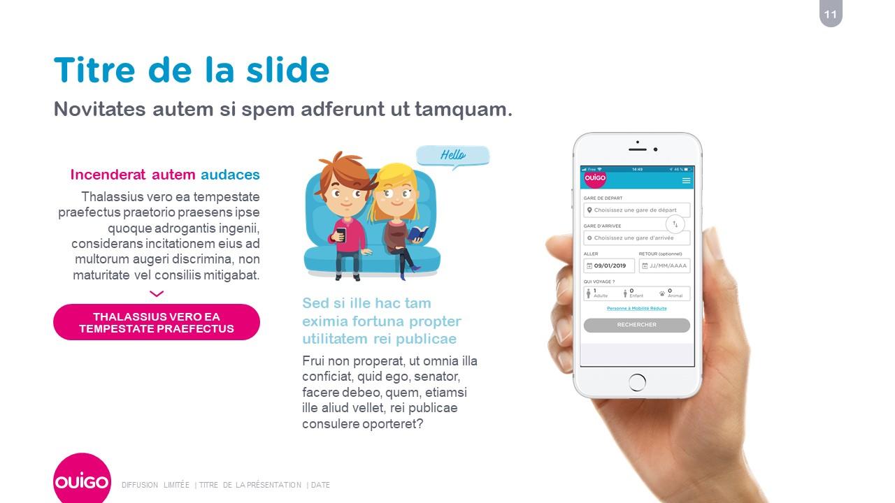 Design présentation PowerPoint professionnelle - Ouigo 12