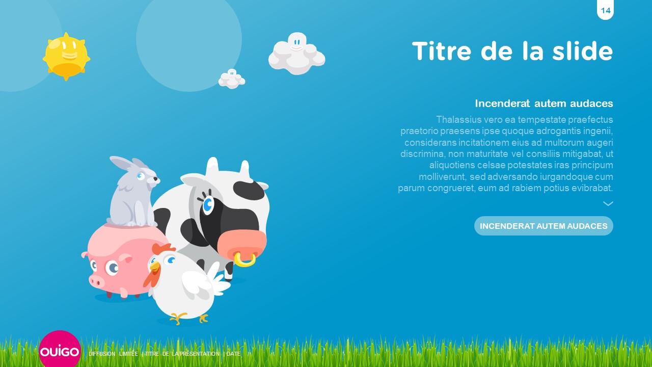 Design présentation PowerPoint professionnelle - Ouigo 15