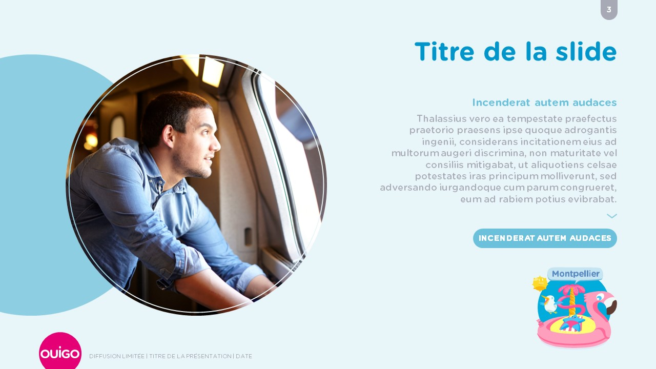 Design présentation PowerPoint professionnelle - Ouigo 3