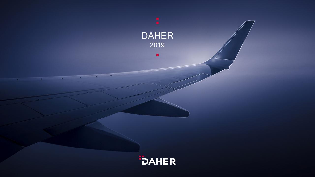 Couverture Template de présentation PowerPoint professionnelle - Daher