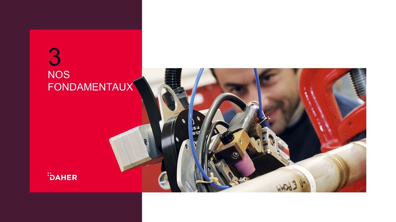 Template de présentation PowerPoint professionnelle - Daher 3