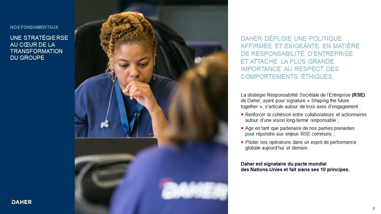 Template de présentation PowerPoint professionnelle - Daher 8