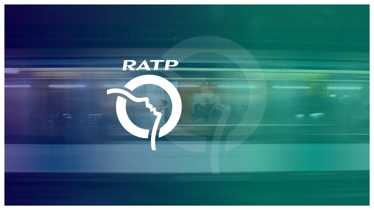 Couverture présentation PowerPoint professionnelle - RATP