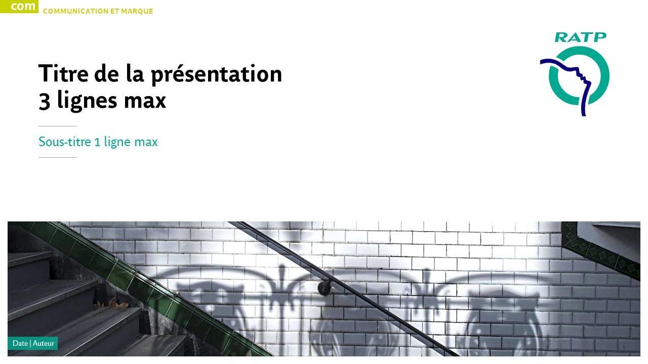 Modèle de présentation PowerPoint professionnelle - RATP 1