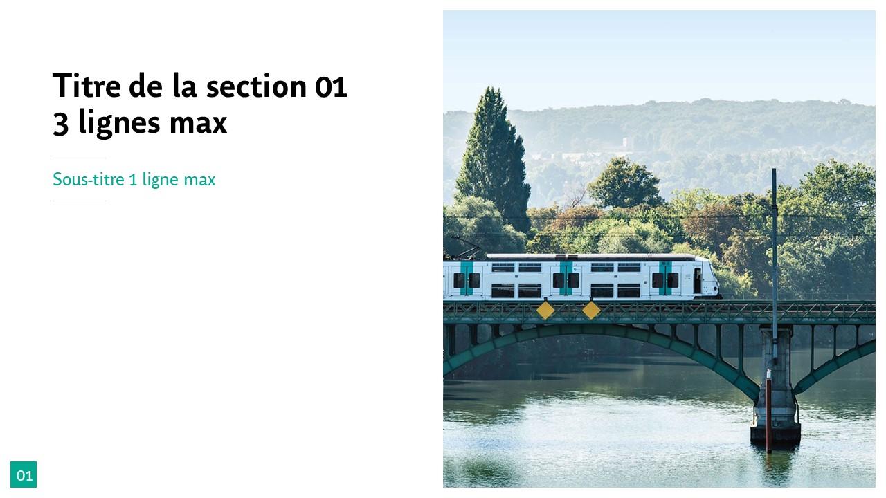 Modèle de présentation PowerPoint professionnelle - RATP 2