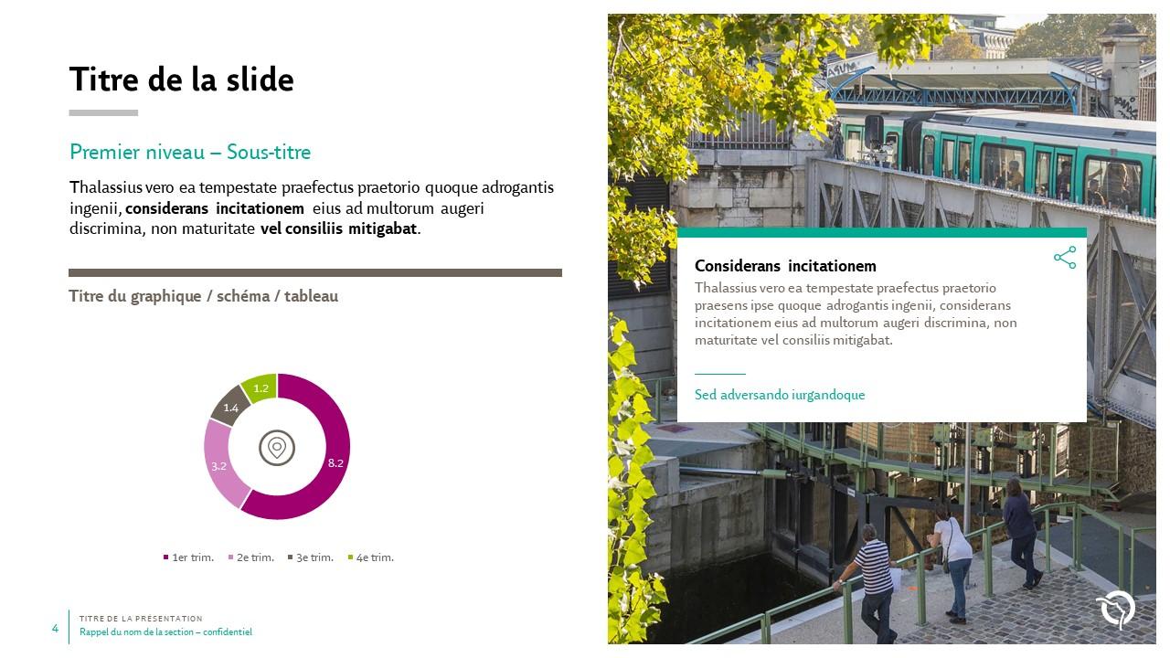 Modèle de présentation PowerPoint professionnelle - RATP 4