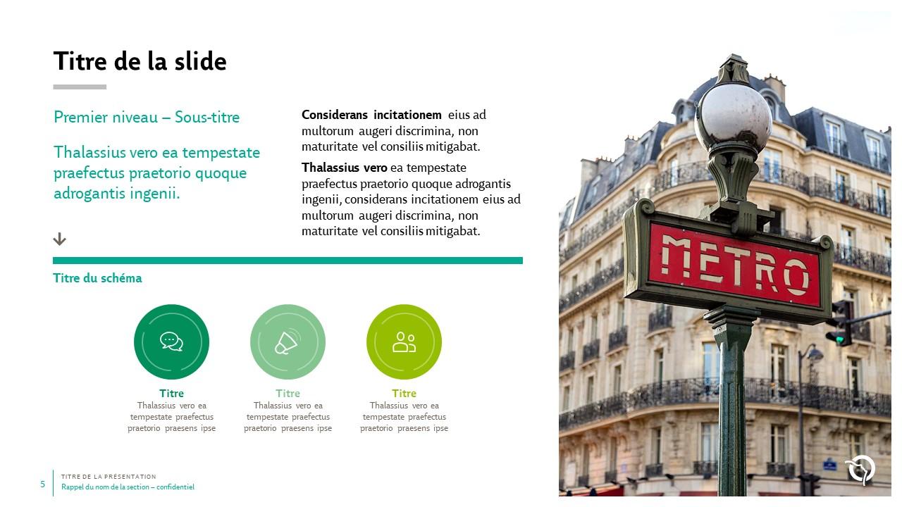 Modèle de présentation PowerPoint professionnelle - RATP 5