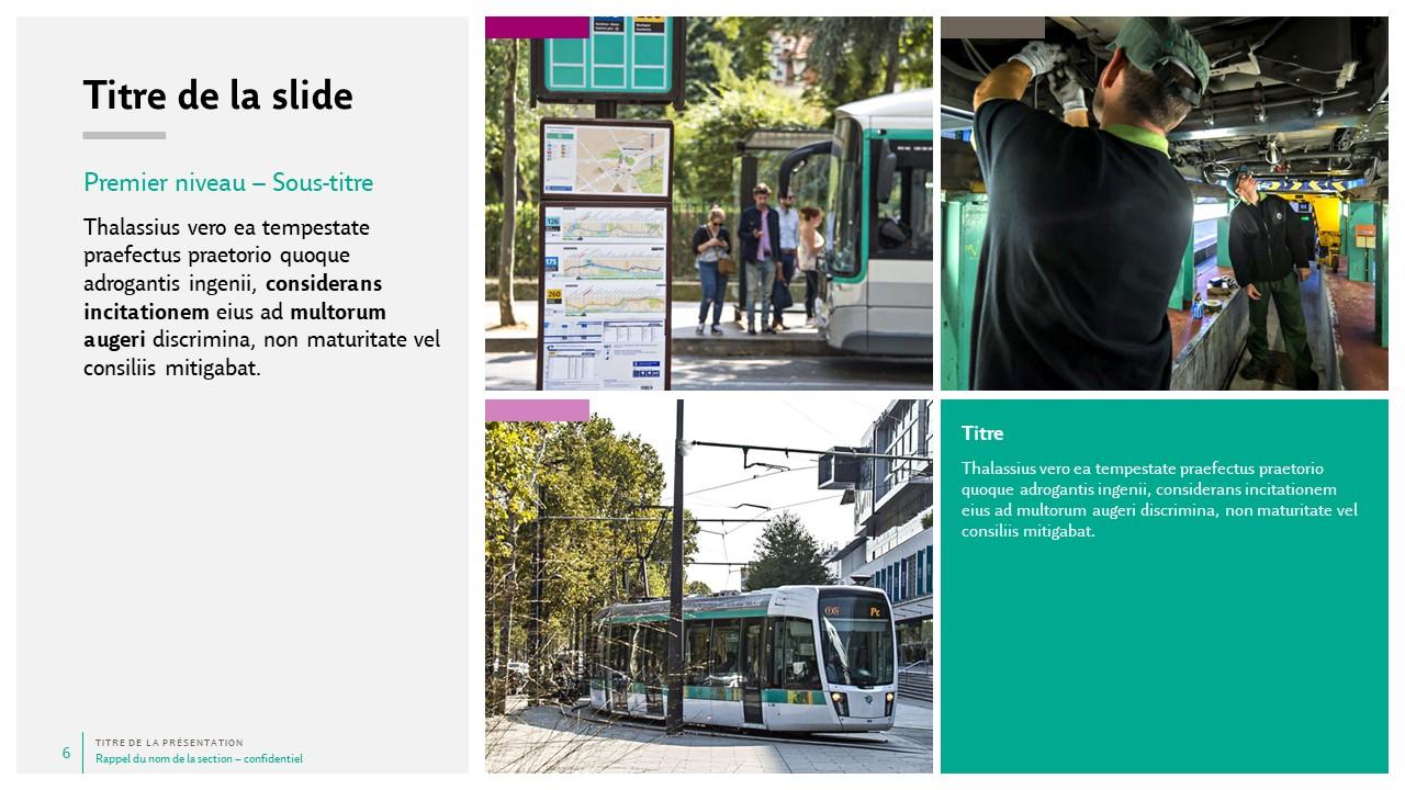 Modèle de présentation PowerPoint professionnelle - RATP 6