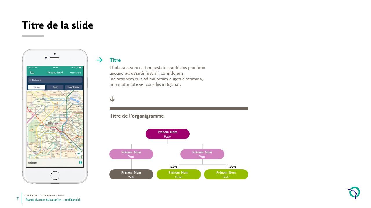 Modèle de présentation PowerPoint professionnelle - RATP 7