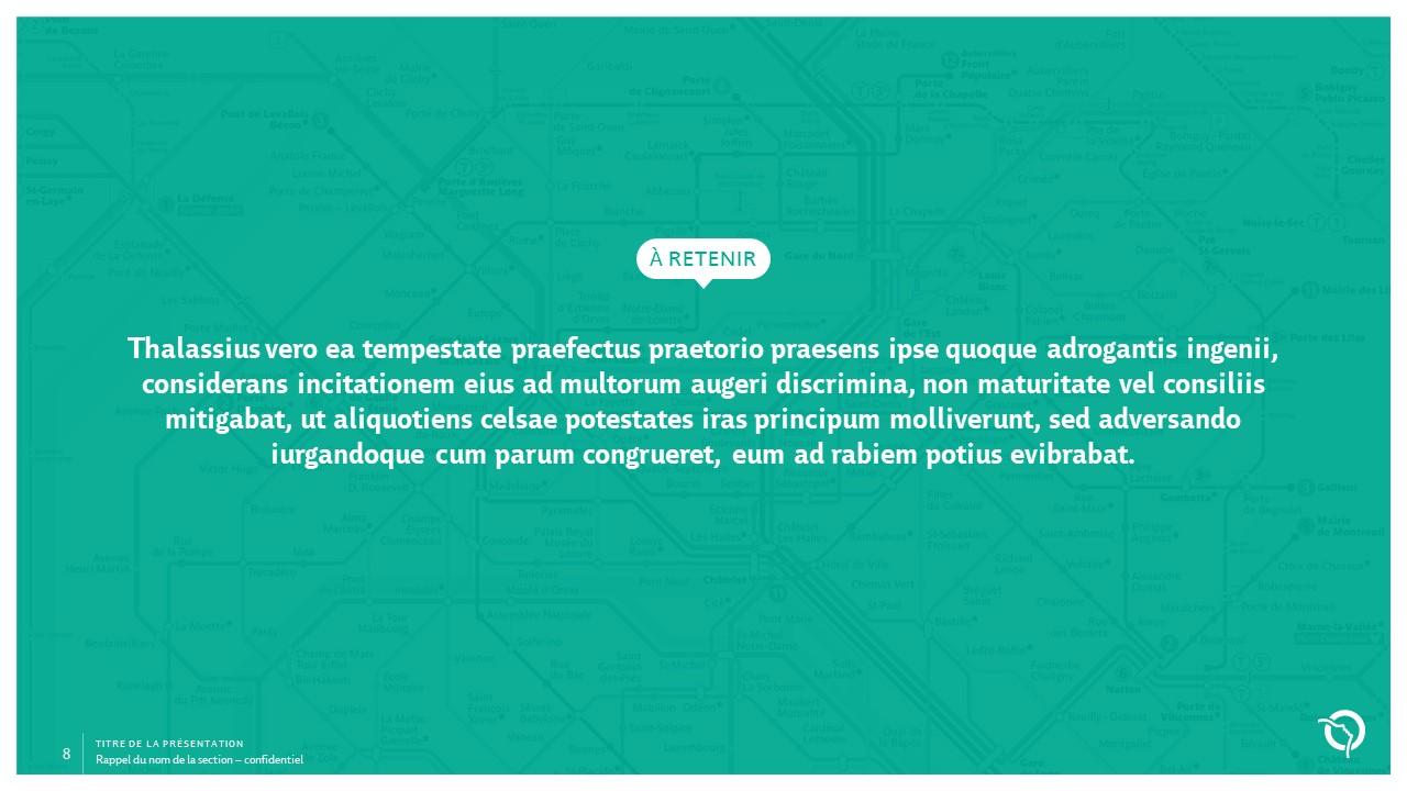 Modèle de présentation PowerPoint professionnelle - RATP 8