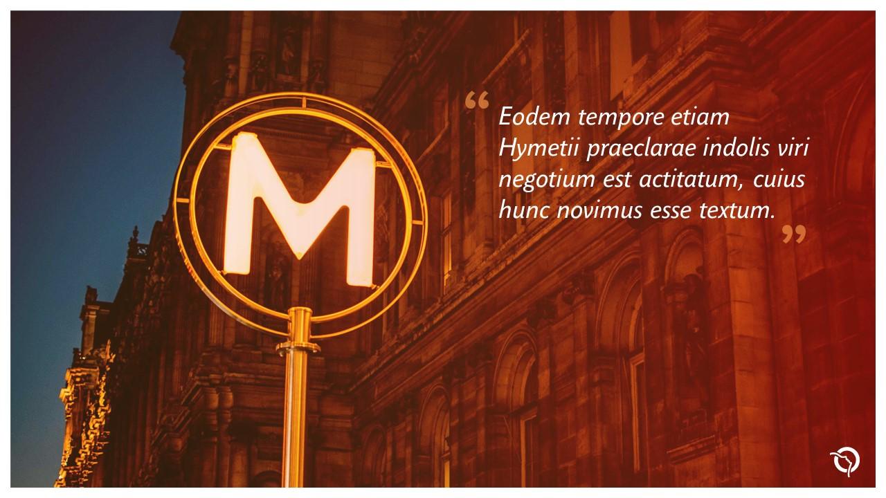 Modèle de présentation PowerPoint professionnelle - RATP 9