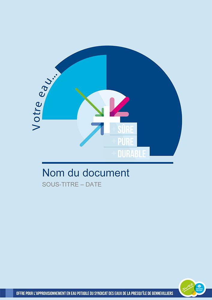 Couverture document Word professionnelle - Suez Environnement