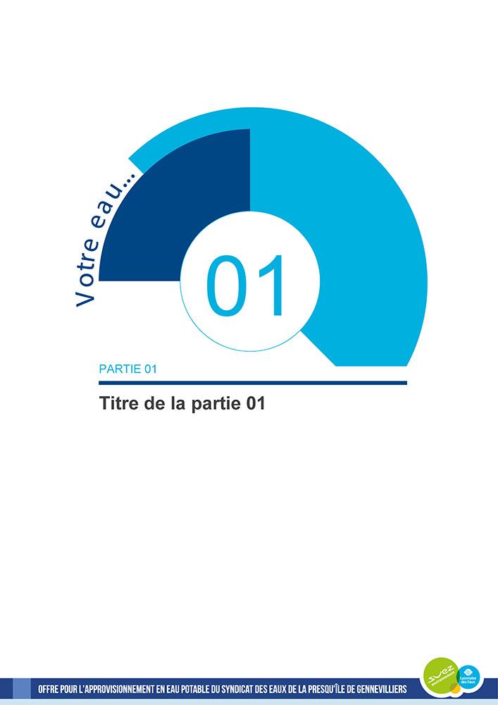 Template de document Word professionnelle - Suez Environnement 2