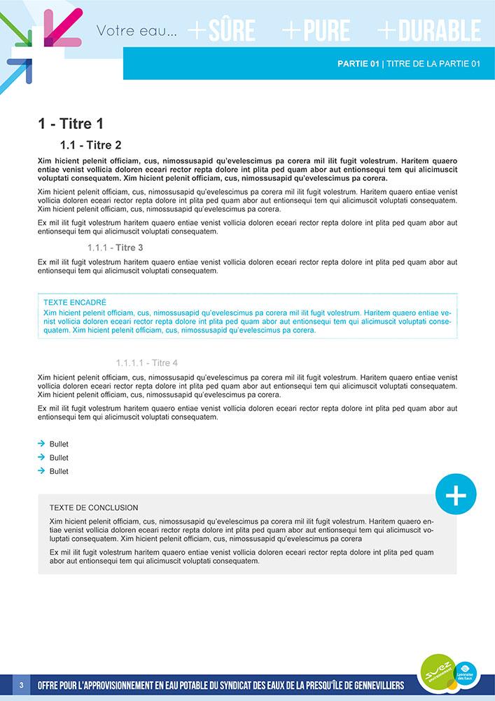 Template de document Word professionnelle - Suez Environnement 3